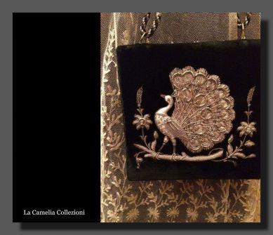 borsette antiche - velluto con ricamo argento - la camelia collezioni